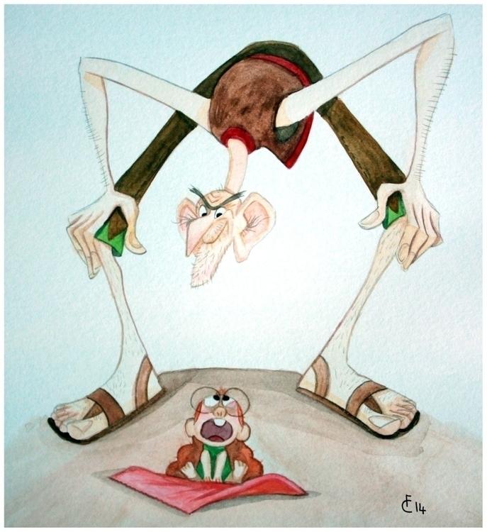 illustration BFG - thebfg, watercolor - finbarcoyle   ello