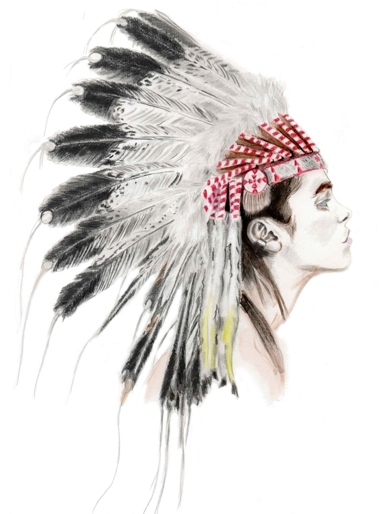Native - illustration, art, painting - lubicatothova | ello