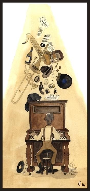 Inspiration - bluessinger, illustration - finbarcoyle   ello