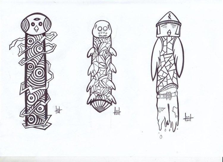 totems designs 29-31 - illustration - h3ml0ck | ello