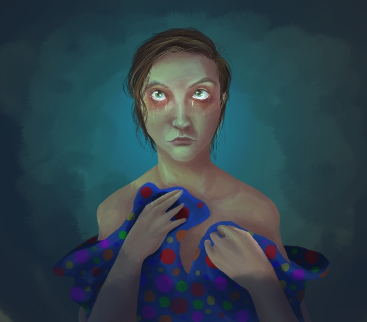 clown. portrait - painting, digitalart - selinasage | ello