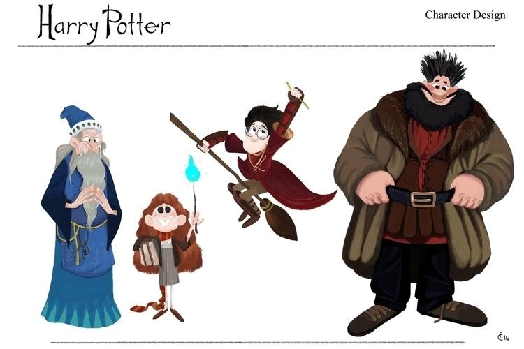 character line Design Harry Pot - finbarcoyle | ello