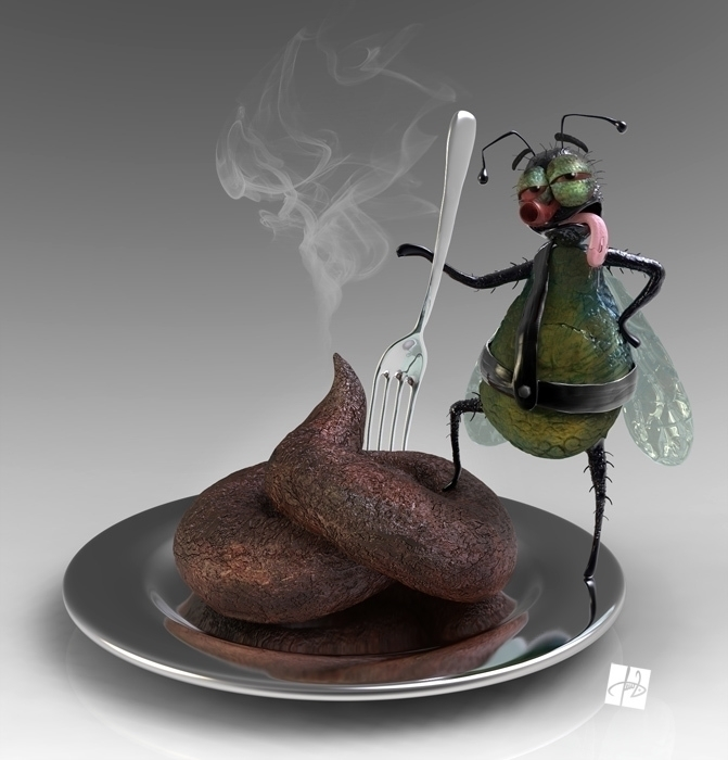 Trophy Funny fly proudly posing - tomjestic | ello