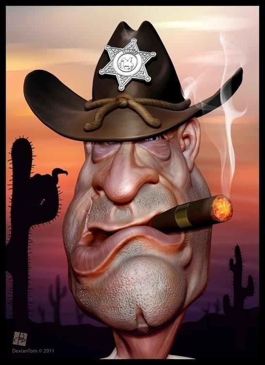 Sheriff 3D caricature model ill - tomjestic | ello