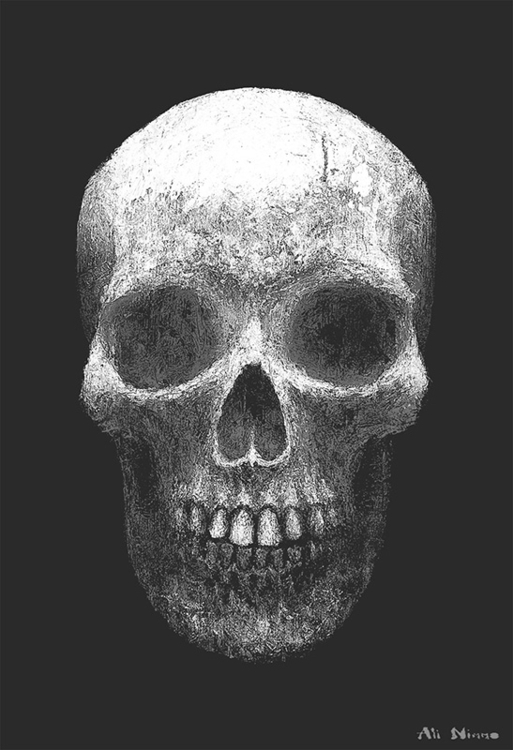 Skull. Personal piece - acrylic - alinimmo | ello