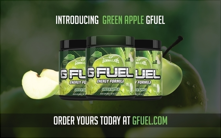 Green Apple Gfuel Advertisement - allenmdesigns | ello