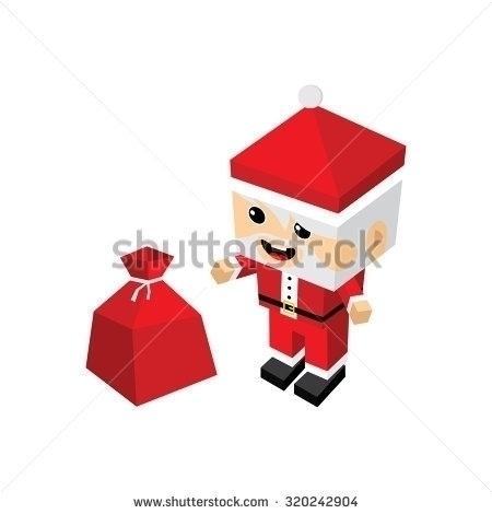 merry christmas santa claus - illustration - vector1st | ello