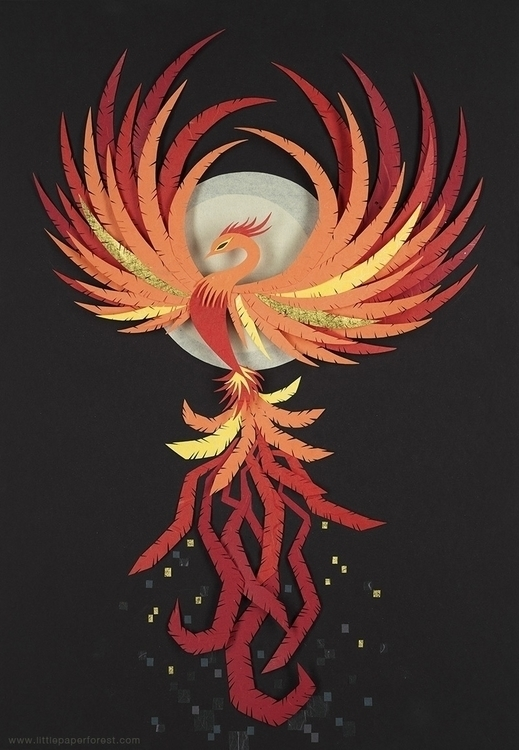 Phoenix - myth, mythology, phoenix - littlepaperforest | ello