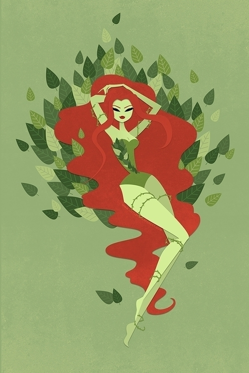 Poison Ivy - poisonivy, batman, fanart - littlepaperforest | ello