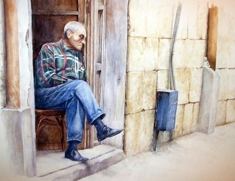 Watercolors paper, 50x70cm - painting - zaherbizri | ello