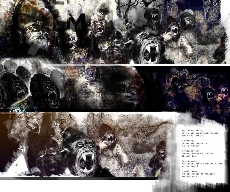 apes, illustration, drawing - robinsonwhite | ello