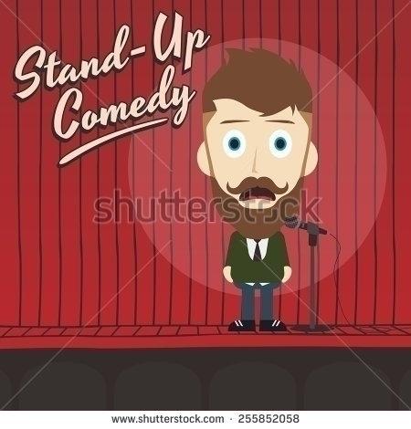 stand comedian cartoon characte - vector1st | ello