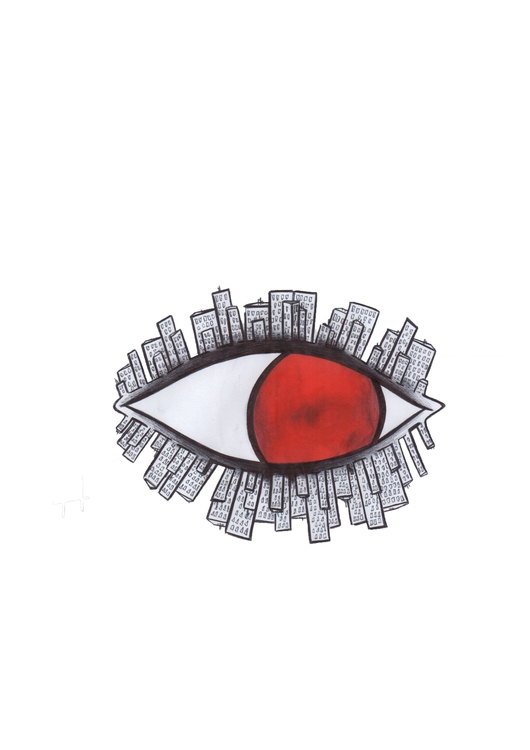 Red Eyes Logo: city eyebrows co - h3ml0ck | ello