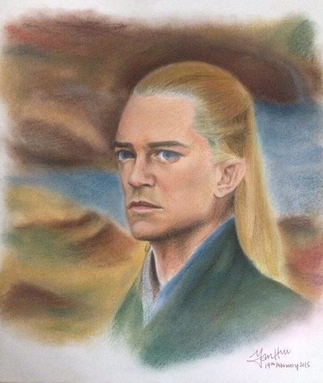 Legolas drawing pastels colour  - ashley_gallery | ello