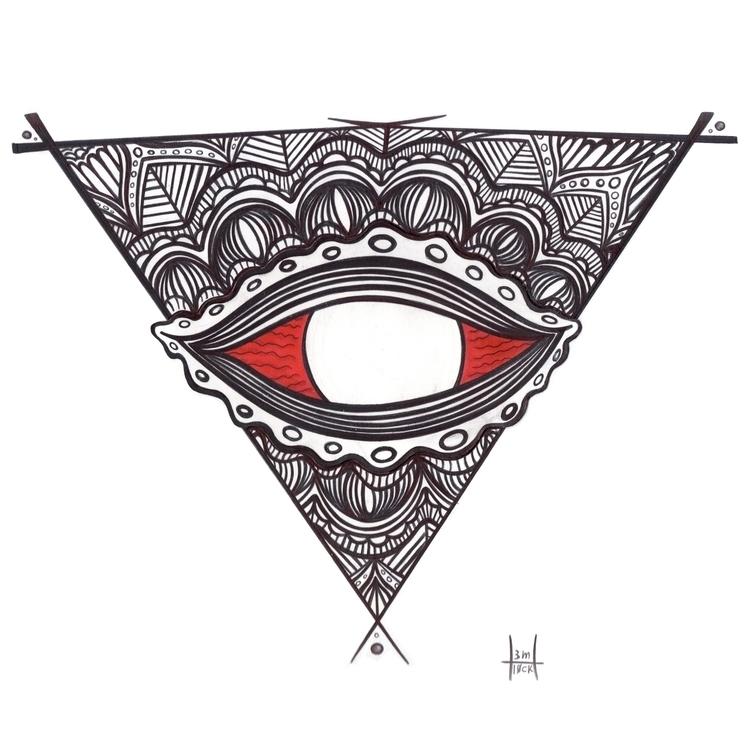 Red Eyes Logo: sacred geometry  - h3ml0ck | ello