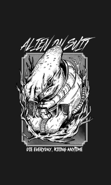 Alien grunge style watch, link  - badsyxn   ello