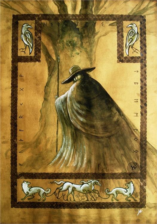 'Odin', 70 50 cm, egg temper wa - dutchpagan | ello