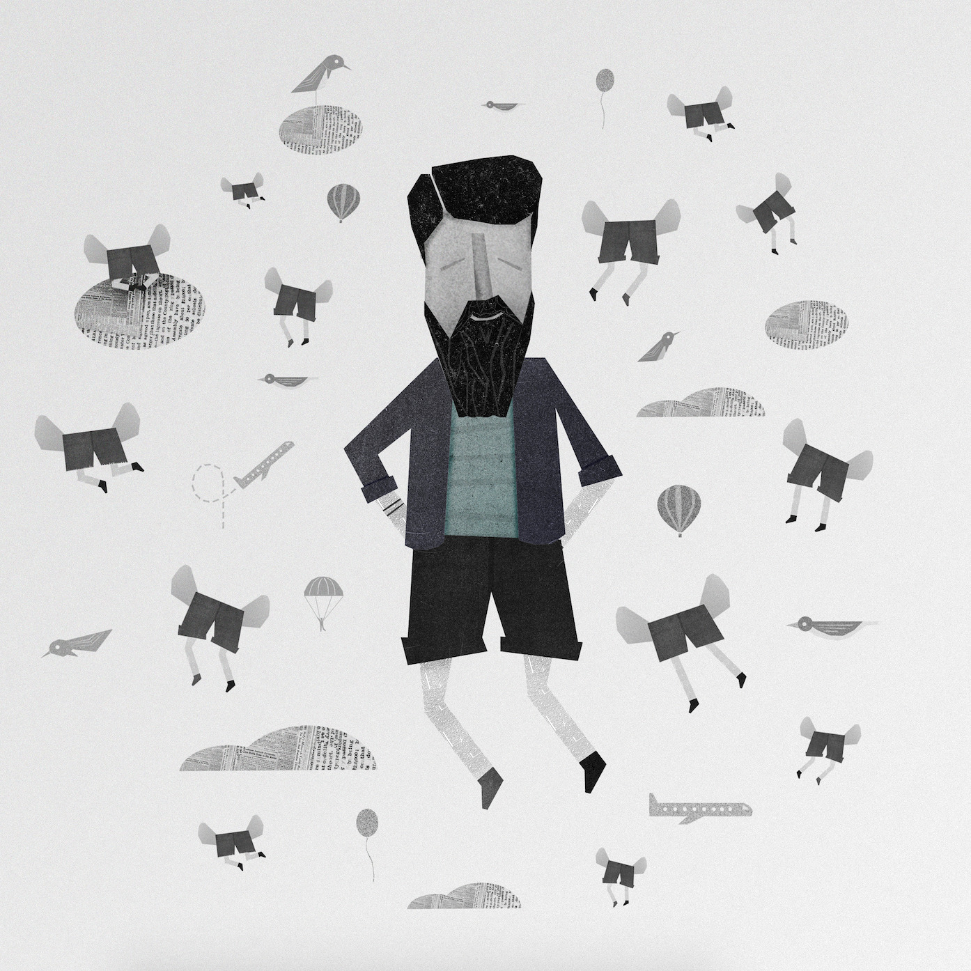 Short Paradise, spring time - illustration - agustin_galickas | ello