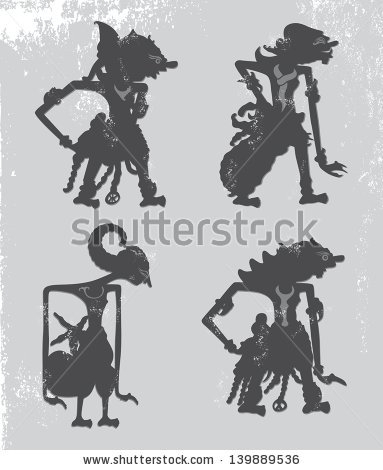 Indonesian Wayang Puppet - illustration - vector1st | ello