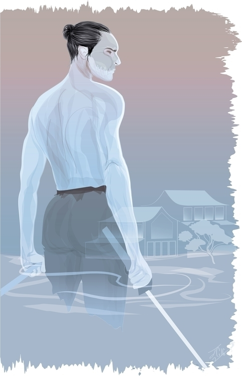 Ghostly Samurai--illustration c - jessieg-1223 | ello