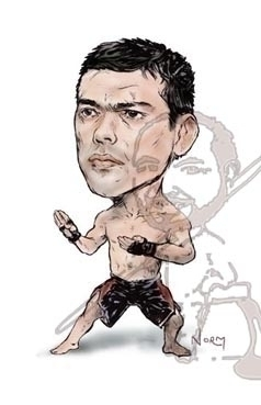 Lyoto Dragon Machida caricature - waivisuals | ello