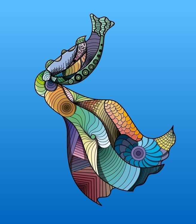Marina - illustration, ilustraciondigital - jhosephdg | ello