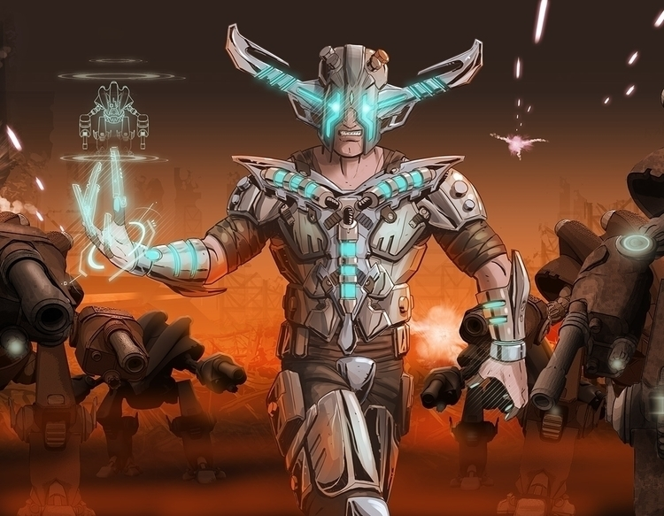 Concept player character 3D pri - robking21 | ello