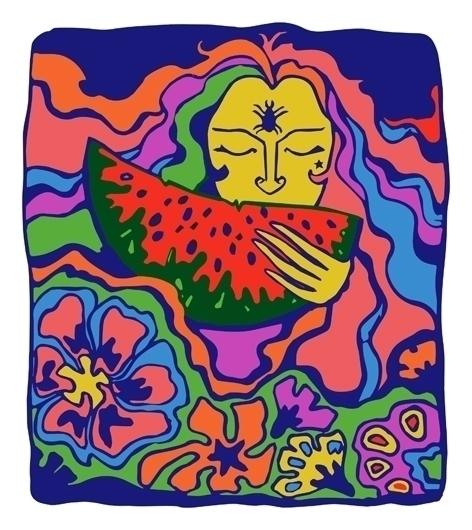 Summertime - illustration, painting - odarkaluhihi | ello