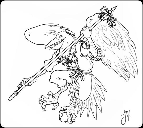 Tengu Line - illustration, Folklore - jasonmartin-1263 | ello