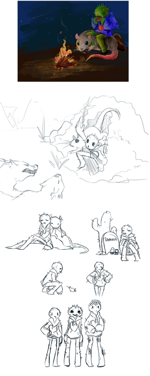 Quick sketches silent adventure - lionsrubright | ello