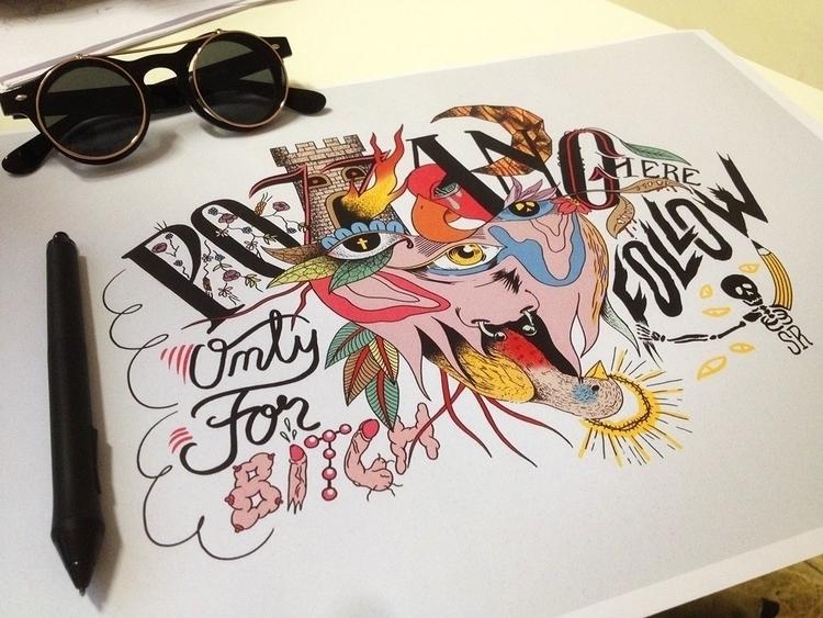 pozzanghere, lettering, drawing - simonerossini | ello
