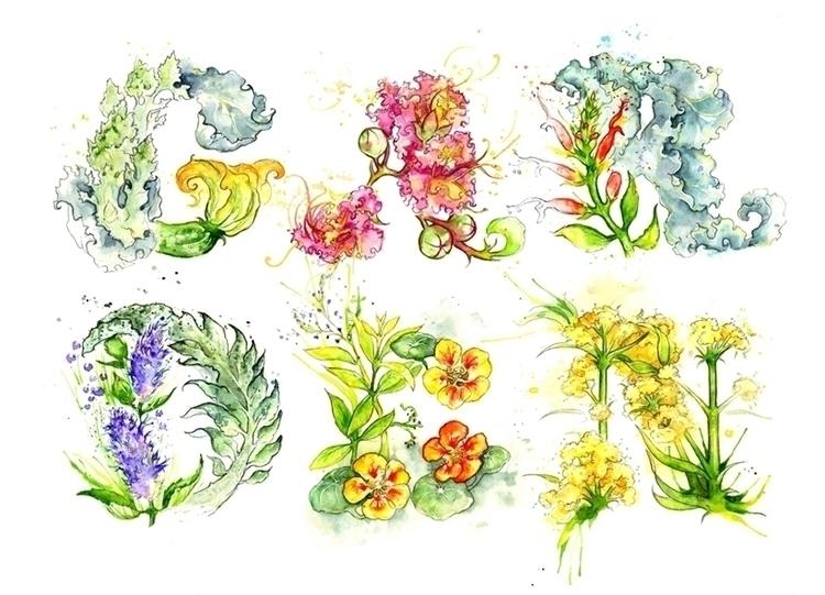 type Stylist magazine UK - watercolor - amyhollidayillustration | ello