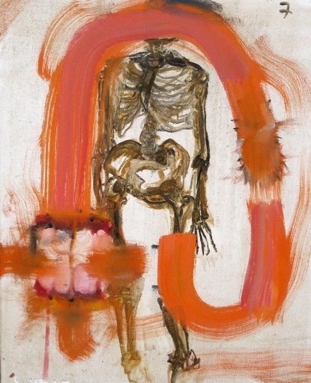 Skeleton study - abstract, oilpainting - irenastanisic | ello