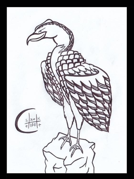 Vulture - vulturesketch, sketch - h3ml0ck | ello