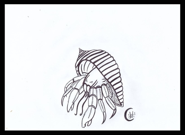 Hermit Crab - h3ml0cksketch, h3ml0ck - h3ml0ck | ello