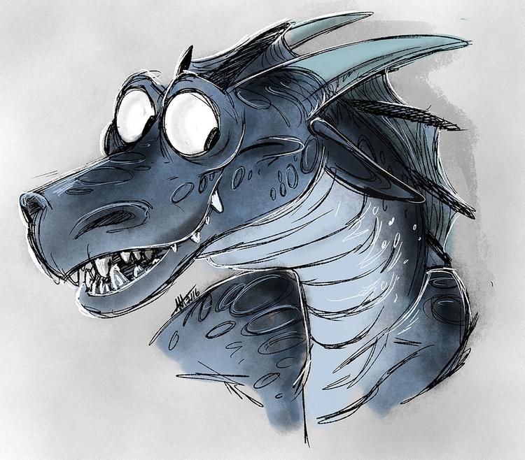 Commission - dragon, digitalart - madmeeper | ello