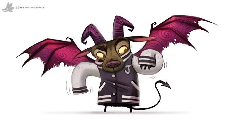 Daily Painting - 850., JerseyDevil - piperthibodeau | ello