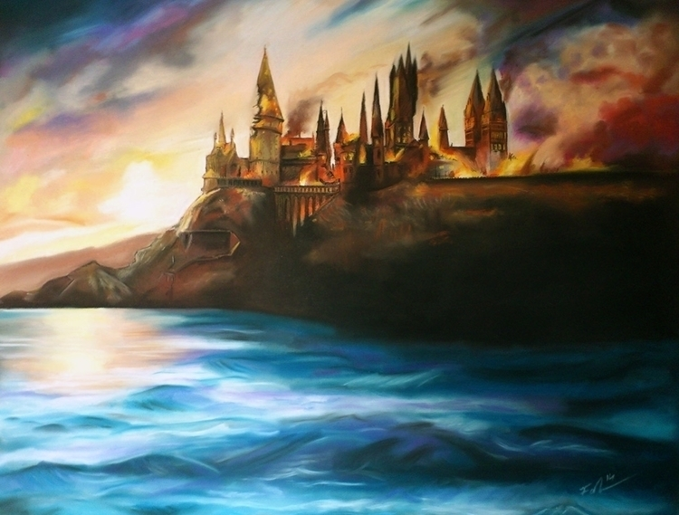 Hogwarts Burning | Soft pastel - fallydesign | ello