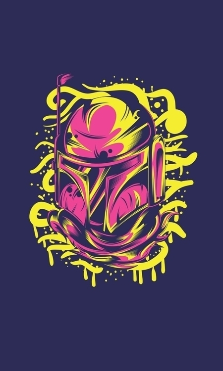 boba fett streetart watch - illustration - badsyxn | ello