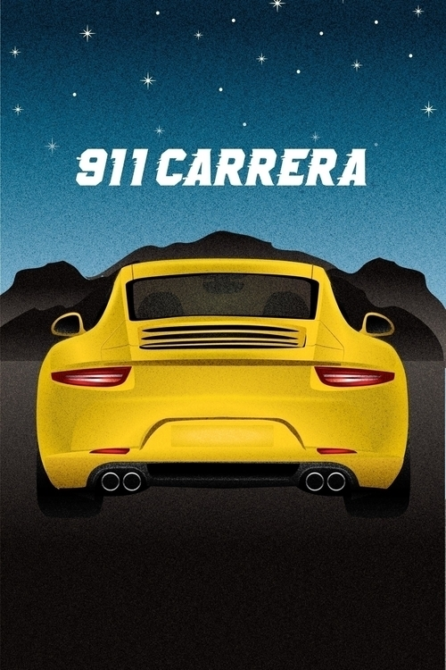Illustrated poster Porsche 911  - jordancuellar | ello