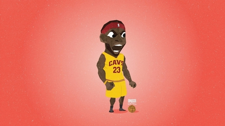 Lebron James - nba, basketball, vector - dnscr | ello