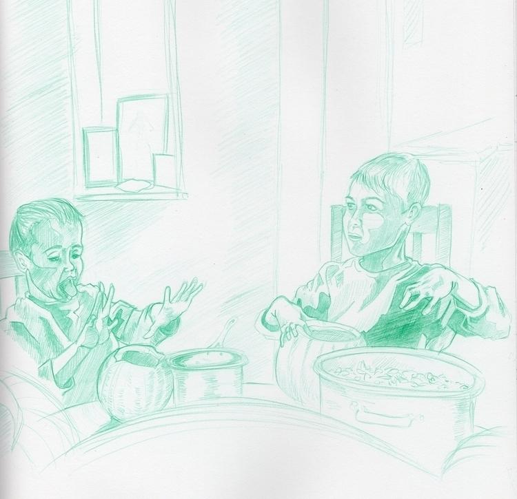 Boys - illustration, art - jakewoods | ello