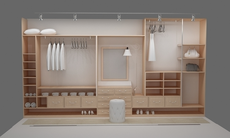 walk closet3_room design - 3d - ruzzletenga | ello