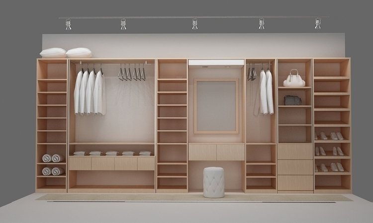 walk closet4_room design - 3d - ruzzletenga | ello