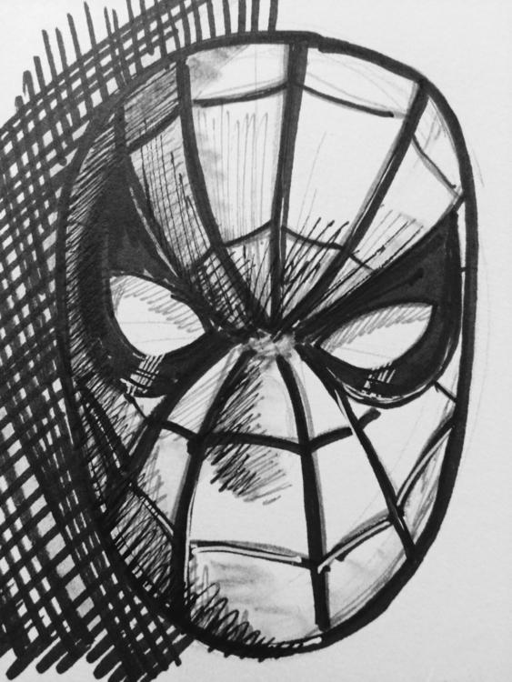 Sketch - Spider-Mansketchbookcomicart - marksolario | ello