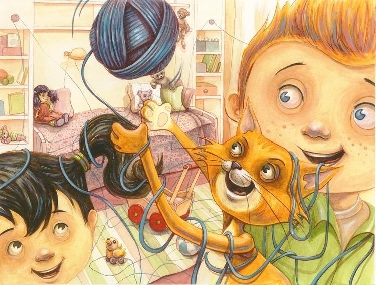 illustration, painting - maukins | ello