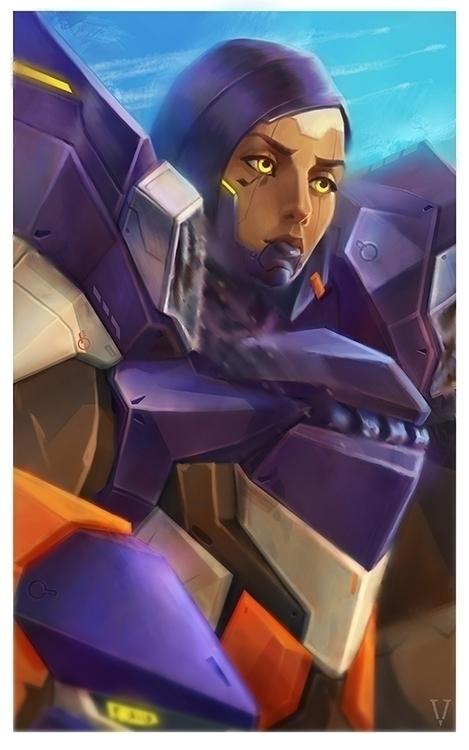 overwatch, pharah - eugeniavertryvorontsova | ello