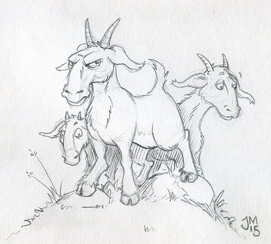 GOATS! long time drew - ThreeBillyGoatsGruff - jasonmartin-1263 | ello