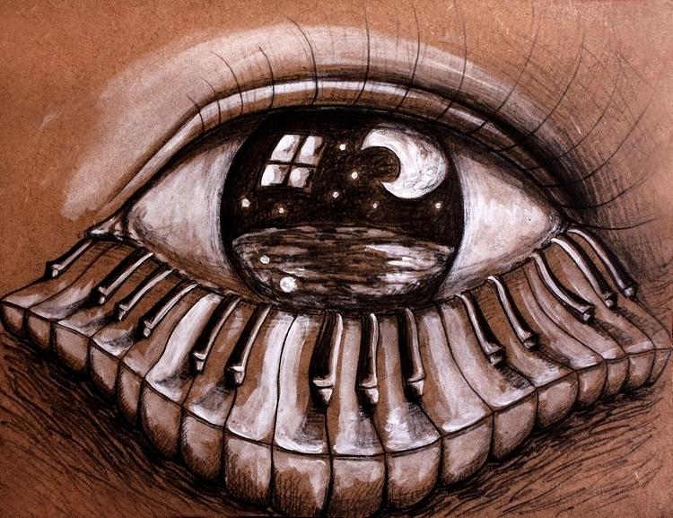 Visión más allá - illustration, painting - juliasirena | ello