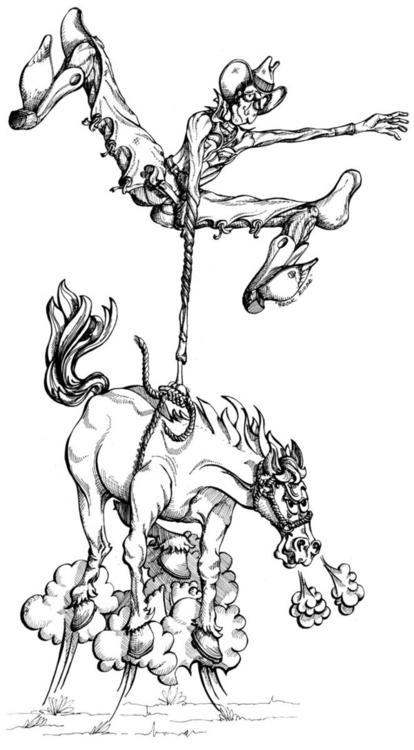 Rodeo Series - cartooning, illustration - creeshort | ello
